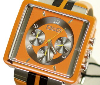 D & G TIME d & g CREAM Chronograph Watch DW0065