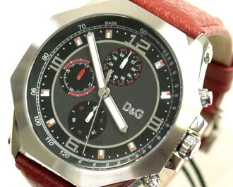 D&G TIME ドルガバ GOOSE chronograph watch DW0103 black fs3gm05P10Nov13