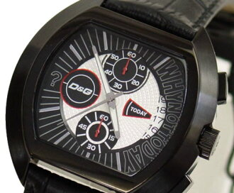 D & G TIME die and say HIGH SECURITY Chronograph Watch DW0214 black