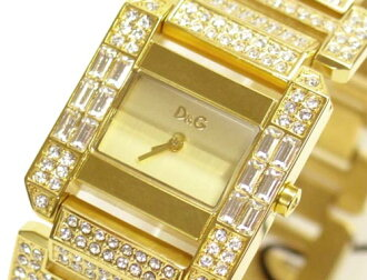 D & G TIME d & g ROYAL ladies SS gold belt watch DW0220