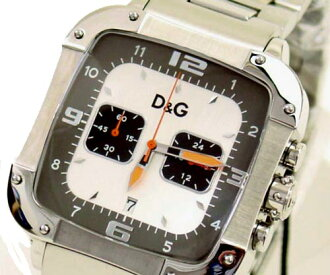 D & G TIME Dolce & Gabbana LICENSED DW0246 chronograph SS belt Watch Silver