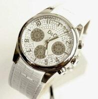 D&GTIMEドルガバSANDPIPERクロノグラフ時計DW0257ホワイト