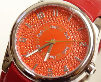 D & G TIME d & g SANDPIPER ロゴフェイス watch DW0260 red 10P01Sep1310P13Sep1310P25Sep13