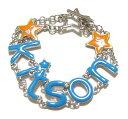 【新入荷・即出荷】 KITSON ブルーロゴチャームブレスレット 219434-BLUE LA直営店