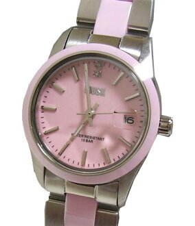 MUSK and musk ladies stainless steel + ceramic belt wristwatch MA-1218-22