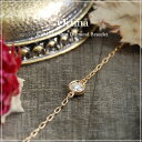 "Delicate jewelry [easy ギフ _ packing] gift present for one K18 gold diamond bracelet ""Ortina"" free shipping 18k 18-karat gold gold diamond breath red bracelet woman"