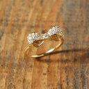 パヴェ ダイヤモンド リボン リング 『Kelly Ring』 指輪 リング レディース リボンの指輪 リボンリング k18 18金 18k k10 10金 10k ゴールド ダイアモンド 大人 女性 上品 繊細 かわいい ring 送料無料 ギフト プレゼント