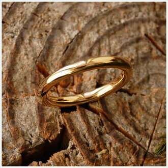 "K18 基本的金戒指""裸色""環女士配對結婚戒指婚禮金屬環 18 k 18 k 金大小號戒指禮物本刻簡單婦女日本生日 10P06May15"
