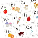親子に笑顔が生まれる「アルファベット表」ABC Chart ポスター 室内用 インテリア 知育