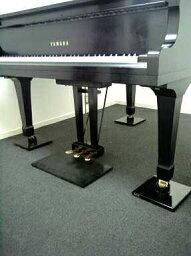 グランドピアノ用インシュレーターピアノ床防音・音質改善【インシュレーションマスター GP用】耐震型ピアノ静音パットD250×W250×H62mm【3台1組】