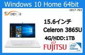 ★未使用箱なし★ 富士通15.6 インチ/Celeron Dual-Core 3865U/HDD:1TB/メモリ:4GB/人気商品ランニング131位FMVA42B2W