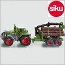 Siku(ジク)社輸入ミニカー1645材木運搬車付トラクター