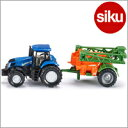 <ボーネルンド>Siku(ジク)社輸入ミニカー1668 ニューホランド トラクター(噴霧器付き)
