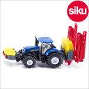 <ボーネルンド> Siku(ジク)社輸入ミニカー1799 ニューホランド トラクター 作物噴霧器付き 1/87