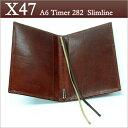 X47 ドイツ製 システム手帳 A6タイマー ブラウン本革手帳 スリムライン ガウチョA6 Timer 282 Slimline 【送料無料】【smtb-s】