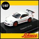Schuco(シュコー)社ミニカー 452609200ポルシェ911 GT3 RS (997) ホワイト/レッド 1/87