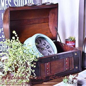 アンティーク トランク ラウンド Lサイズ 【木箱 トランク】 【収納 アンティーク】 【木箱 トランク アンティーク】