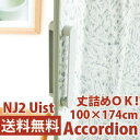 アコーディオンドア NJ2 幅100cm×高さ174cm ウィスト 間仕切り (アコーディオンカーテン)