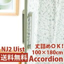 アコーディオンドア NJ2 幅100cm×高さ180cm ウィスト 間仕切り (アコーディオンカーテン)