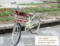 【新着】エクストラワイドタイプ:ブラウン×ネイティブボーダー柄バスケットカバー(自転車前かごカバー)