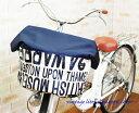 エクストラワイドサイズ:ネイビー×ヴィンテージ英字柄バスケットカバー(自転車前カゴカバー)