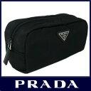 PRADA プラダ prada 化粧 ポーチ ブランド ナイロン ブラック 黒 PRADA 1N0350 VELA NERO 【楽ギフ_包装】【新品 未使用】