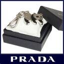 【ギフト ラッピング無料】PRADA プラダ キーリング キーホルダー キーフック付き パンダ メタル ブラック 1PS434 ACCIAIO+SMALTO N...
