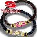 SORIENO(ソリエノ)αLeather Touch カスタムブレスレット(ゴールド) スポーツブレスレット 健康 ブレスレット