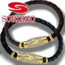 SORIENO(ソリエノ)Leather Touchブレスレット(ゴールド) スポーツブレスレット 健康 ブレスレット