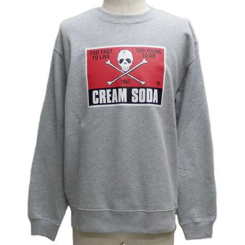 CREAMSODAクリームソーダ CS 50th 角ドクロトレーナーPD17SW-02
