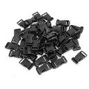 ソウテン uxcell サイドリリースバックル ブラック プラスチック製 50個 バックパックストラップ 2CM 幅用