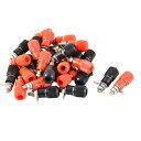 ソウテン uxcell バインディングポスト プラスチック 金属材質 プラグ コネクタ アダプターカプラー 30個入り