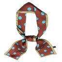 ショッピング水玉 ソウテン リボンスカーフ ネッカチーフ 長方形 細い 水玉 髪飾り バッグ飾り レディース クラレット ビッグドット 98x9cm