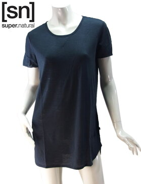 【sn】super.natural スーパーナチュラル レディース W OVERSIZE TEE 110 / チュニックTシャツ W003000-285