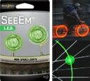 【即納♪】シーム ミニスポークライト×2P グリーン 【NITE IZE/ナイトアイズ】 自転車のスポーツに簡単取り付け♪【LEDライト/点滅/点灯/自転車/アクセサリー/ライト/スポーク/簡単】
