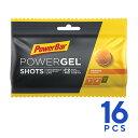 PowerBar パワーバー PowerGel Shots パワージェル・ショッツ オレンジ 1箱(16個入) グミ5粒でパワージェル1本分のエネルギー 補給食 行動食 トレイルランニング