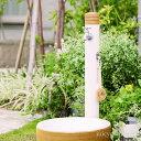 楽天ジューシーガーデン プラス水栓柱 立水栓 ナチュラルなデザイン「アルブラン (水栓柱+ガーデンパン+蛇口2個セット)」【送料無料】お庭をスタイルを選ばないシンプルなカタチです