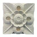 【ストーンレリーフ】【アジアン レリーフ】南国リゾート風ガーデンの装飾「ストーンカービング フラワーB-04-2 片面彫り」200×200×30mmインテリアやエクステリアのアジアン壁飾り パラス石の彫刻