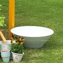 【水鉢】【ガーデンパン】シンプルなガーデンポット「水鉢 ホワイト」水受け【送料無料】