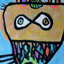 """【送料無料】 新作絵画 : 小西慎一郎 """"葉っぱを頭にのせた狸""""/ アート  A2(606mm×424mm)"""