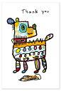 【メール便OK】小西慎一郎 ベニヤアニマルポストカード/メッセージカード[Thank you アニマル/イヌ]