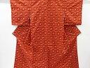 ショッピング琉球 未使用品 幾何学に琉球絣柄織り出し手織り真綿紬着物【リサイクル】【着】 宗sou