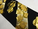 金糸箔色紙・桜模様織り出し袋帯【リサイクル】【中古】【着】 宗sou