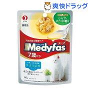 メディファス スープパウチ 7歳から・高齢猫用 まぐろ・ささみ しらす・かつお節入り(40g)【メディファス】