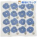 原田織物 Knit kobo 7枚あわせかや生地ふきん フラワー 30×30cm ブルー(1枚入)