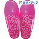 マーナ ウォーターカラー バススリッパ フラワー ピンク Mサイズ W248P(1足)【マーナ】