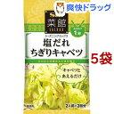 菜館シーズニングミックス 塩だれちぎりキャベツ(2人前*2回分*5コセット)【菜館(SAIKAN)】