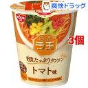 【訳あり】日清ラ王 野菜たっぷりタンメン トマト味(63g*3個セット)【日清ラ王】