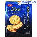スリムサンド 薄焼きビスケット&ミルククリーム袋(12枚(3枚*4パック))