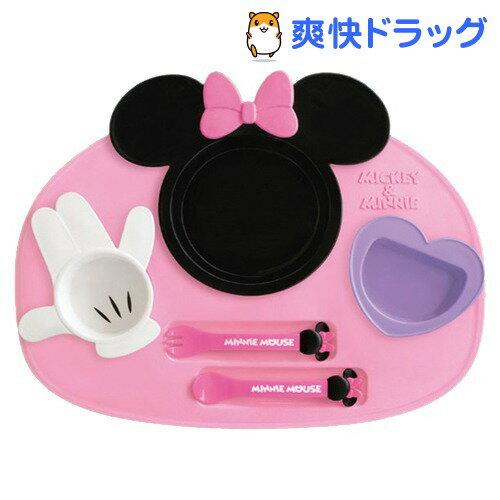 ミニーマウス アイコン ランチプレート 6点セット(1コ入)[ベビー用品]...:soukai:10467693
